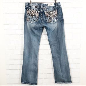 Miss Me Jeans - MISS ME Signature Boot Sequin Embroidered Jeans 34